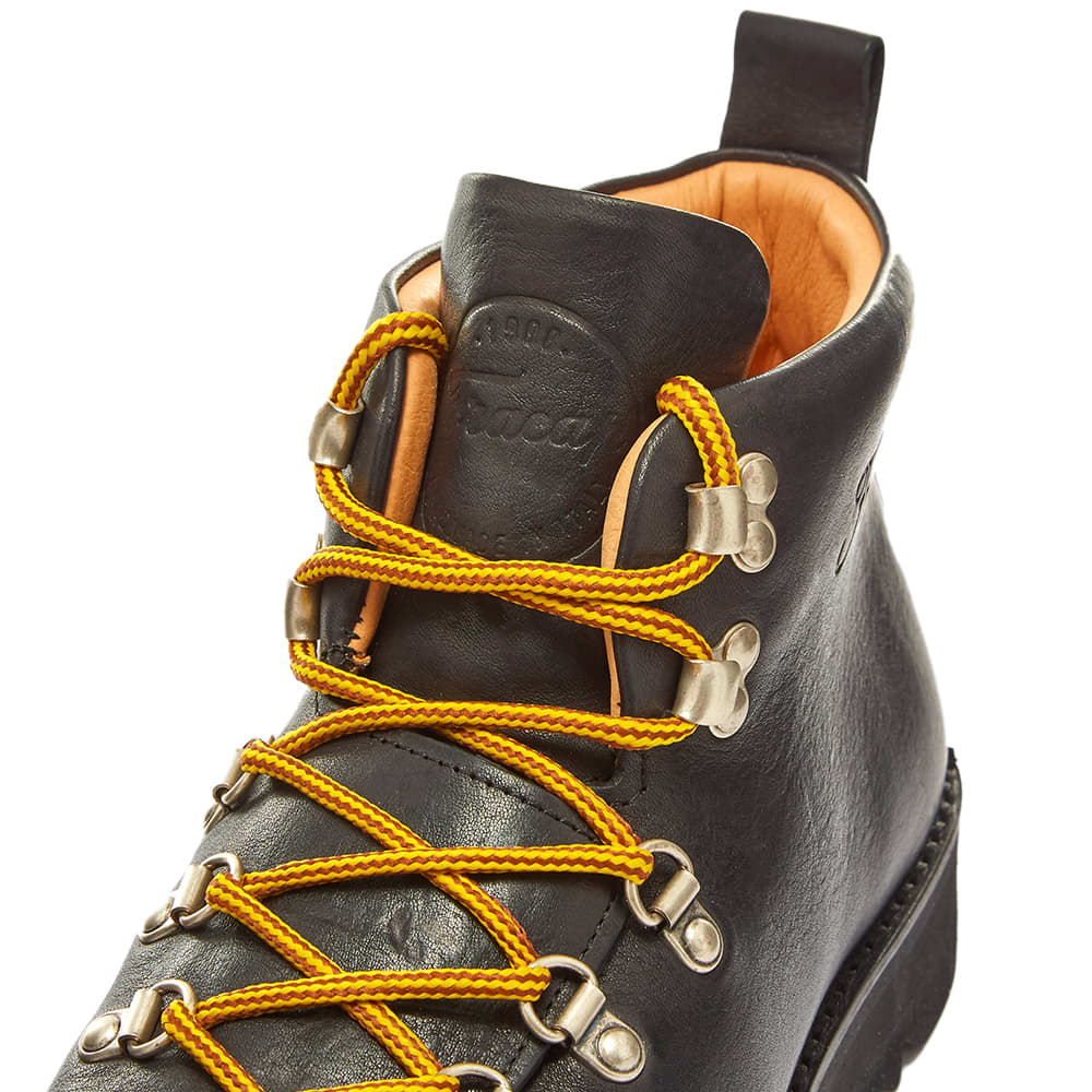 Fracap M120 Black Ripple Sole Scarponcino Boot - Black