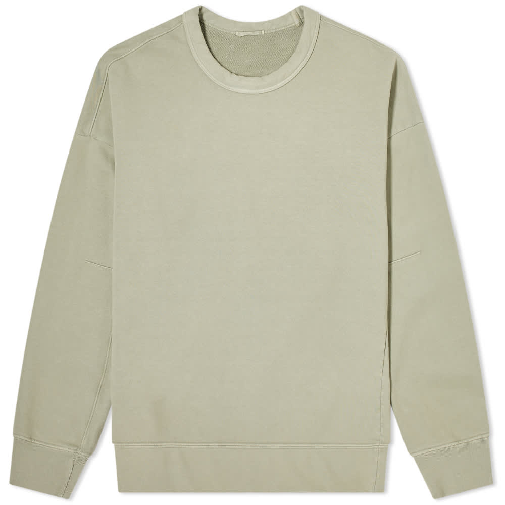Ten C Invisible Fleece Crew Sweat - Khaki