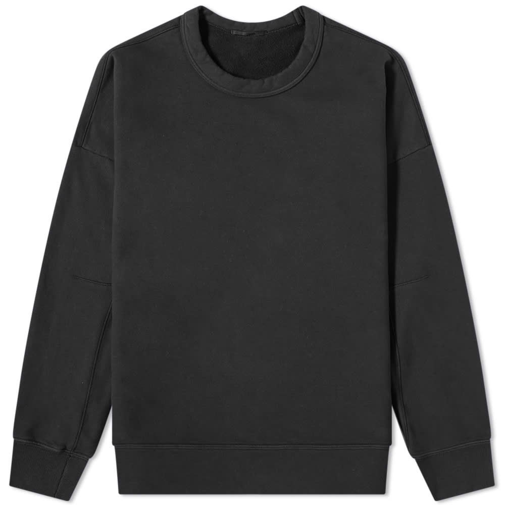 Ten C Invisible Fleece Crew Sweat - Black