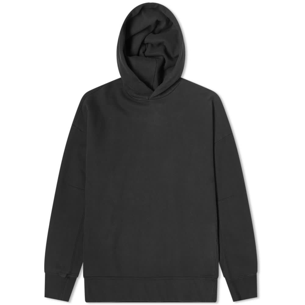 Ten C Invisible Fleece Popover Hoody - Black