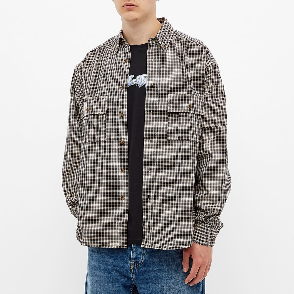 PACCBET Flannel Checked Shirt - Beige Check