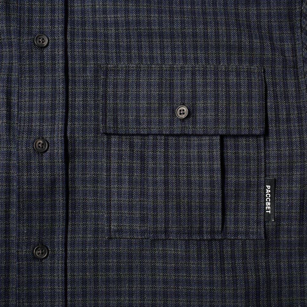 PACCBET Flannel Checked Shirt - Navy Check