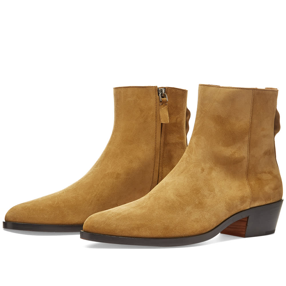 Fear of God x Zegna Suede Texan Boot - Camel