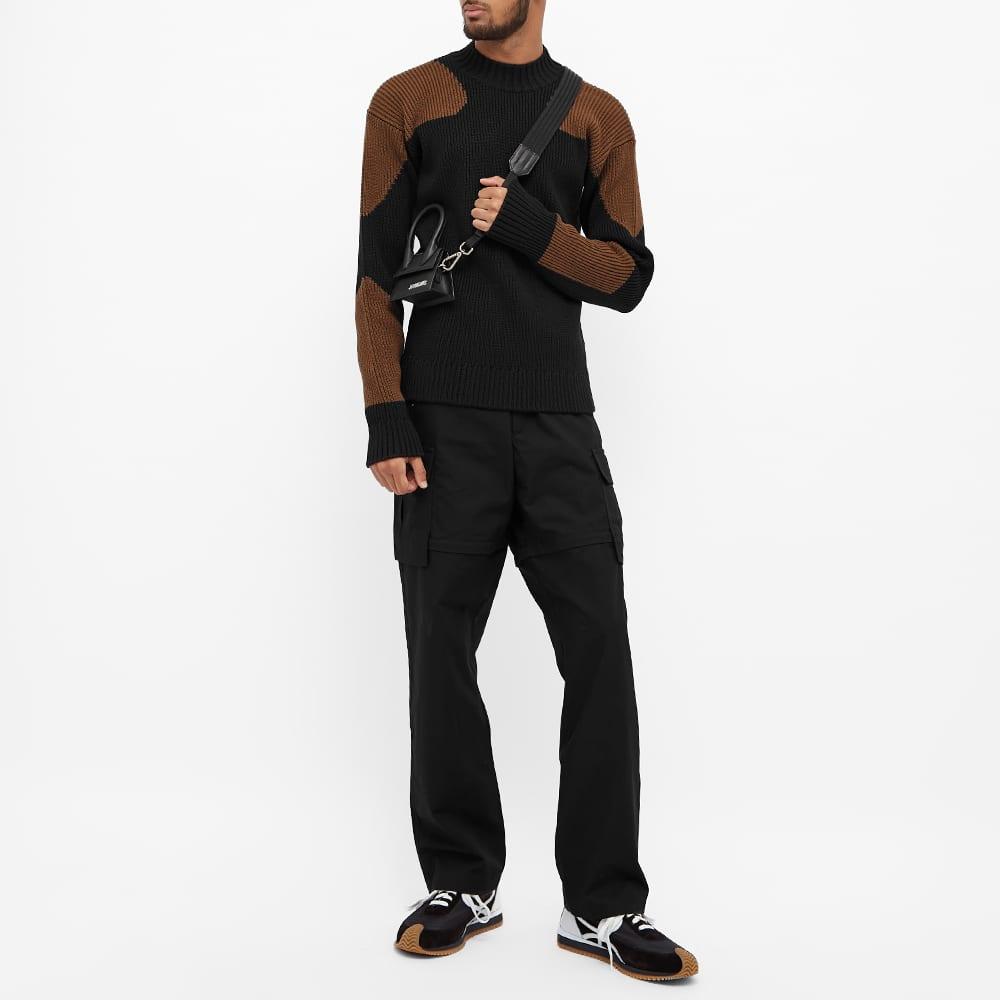 Jacquemus Contrast Panel Crew Sweat - Black & Brown