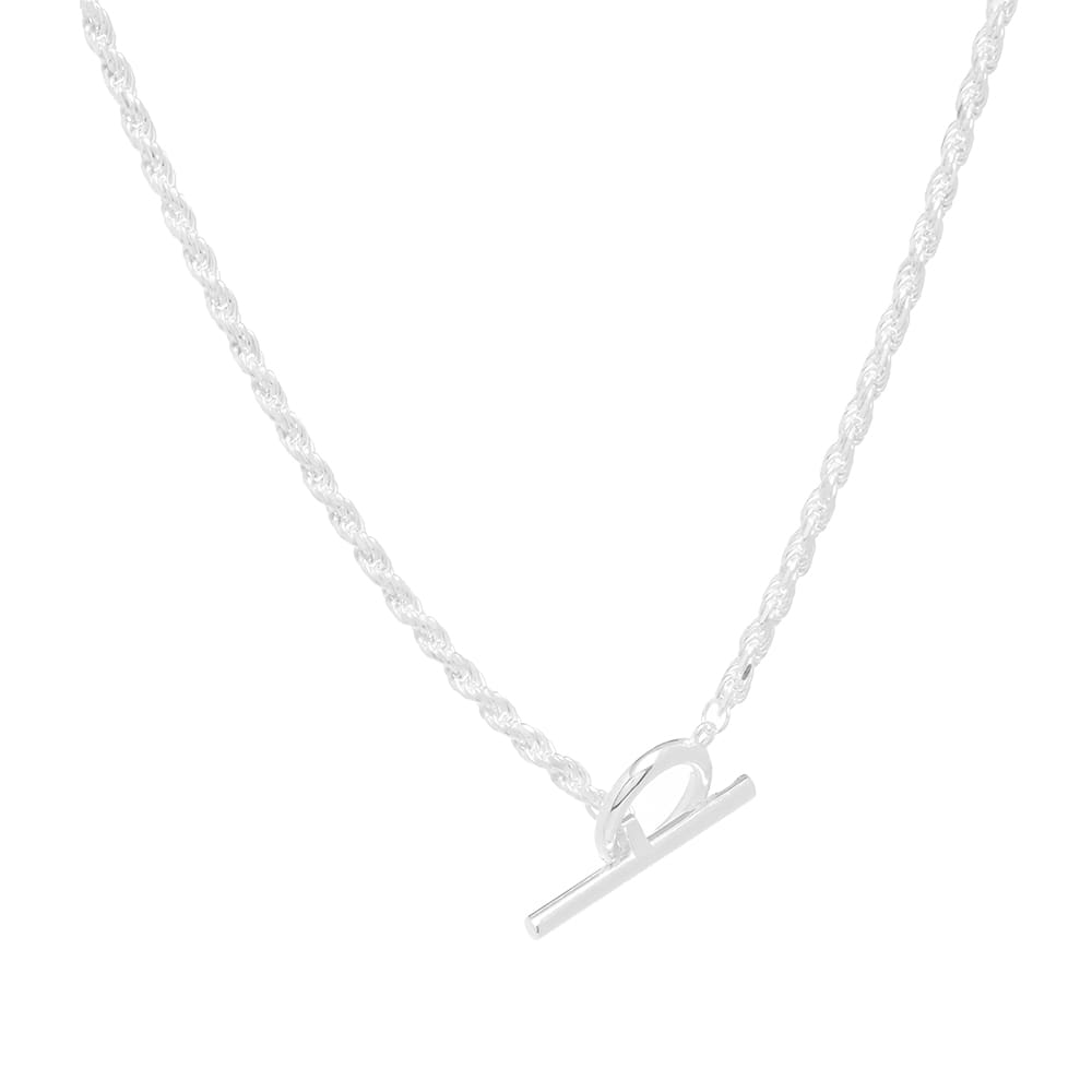 All Blues Rope Necklace - Sterling Silver