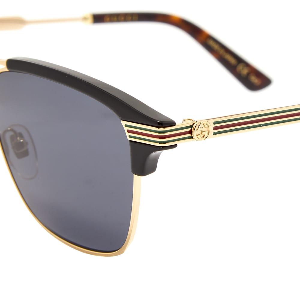 Gucci Vintage Web Sunglasses - Gold & Grey