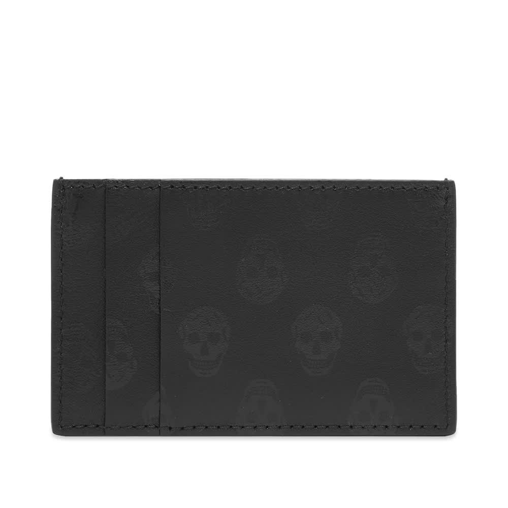 Alexander McQueen Printed Skull Card Holder - Black