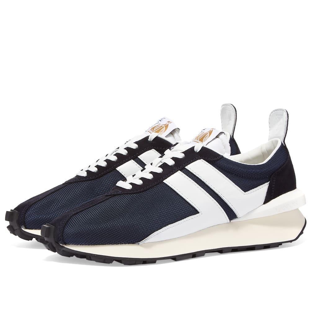 Lanvin Vintage Running Sneaker - Navy Blue & White