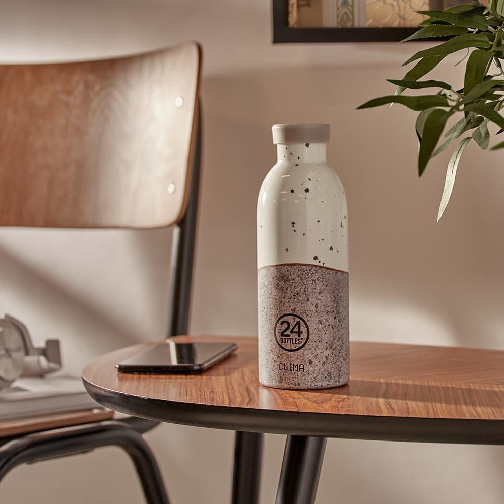 24 Bottles Clima Insulated Infuser Bottle 500ml - White & Grey