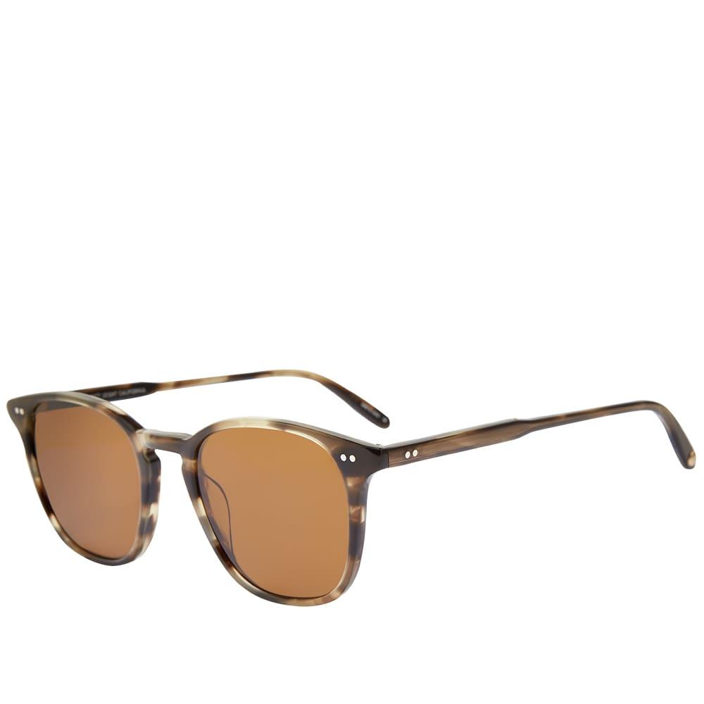 Garrett Leight Clark 49 Sunglasses - Kodiak Tortoise & Semi Brown