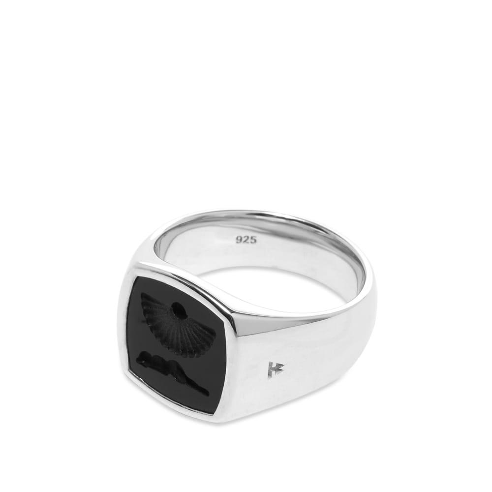 Tom Wood Clytia Onyx Ring - 925 Sterling Silver