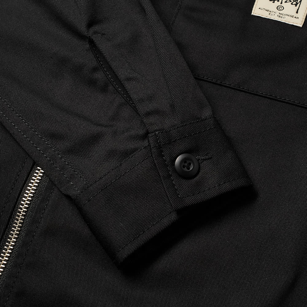 Stussy Zip Up Work Shirt - Black