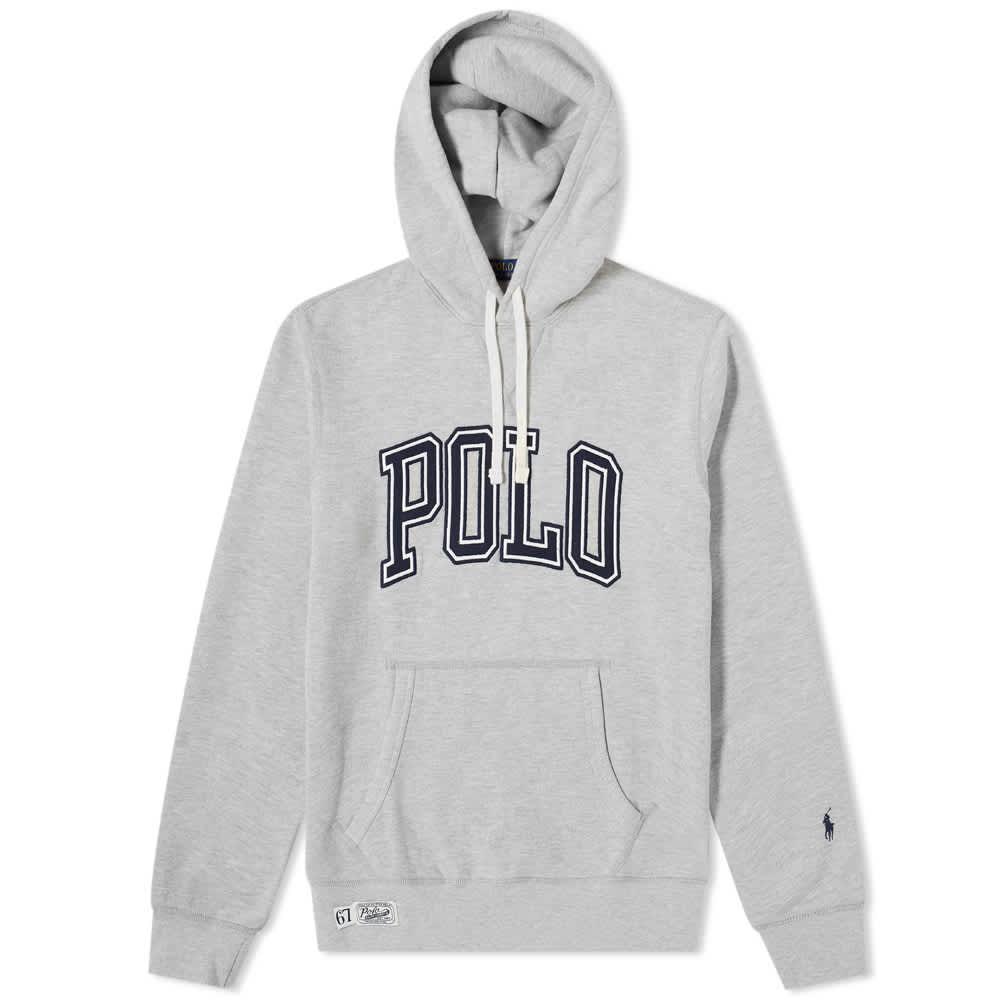 Polo Ralph Lauren Arch Logo Popover Hoody - Andover Heather