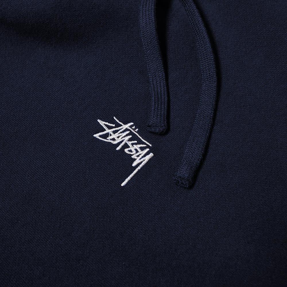Stussy Stock Logo Hoody - Navy