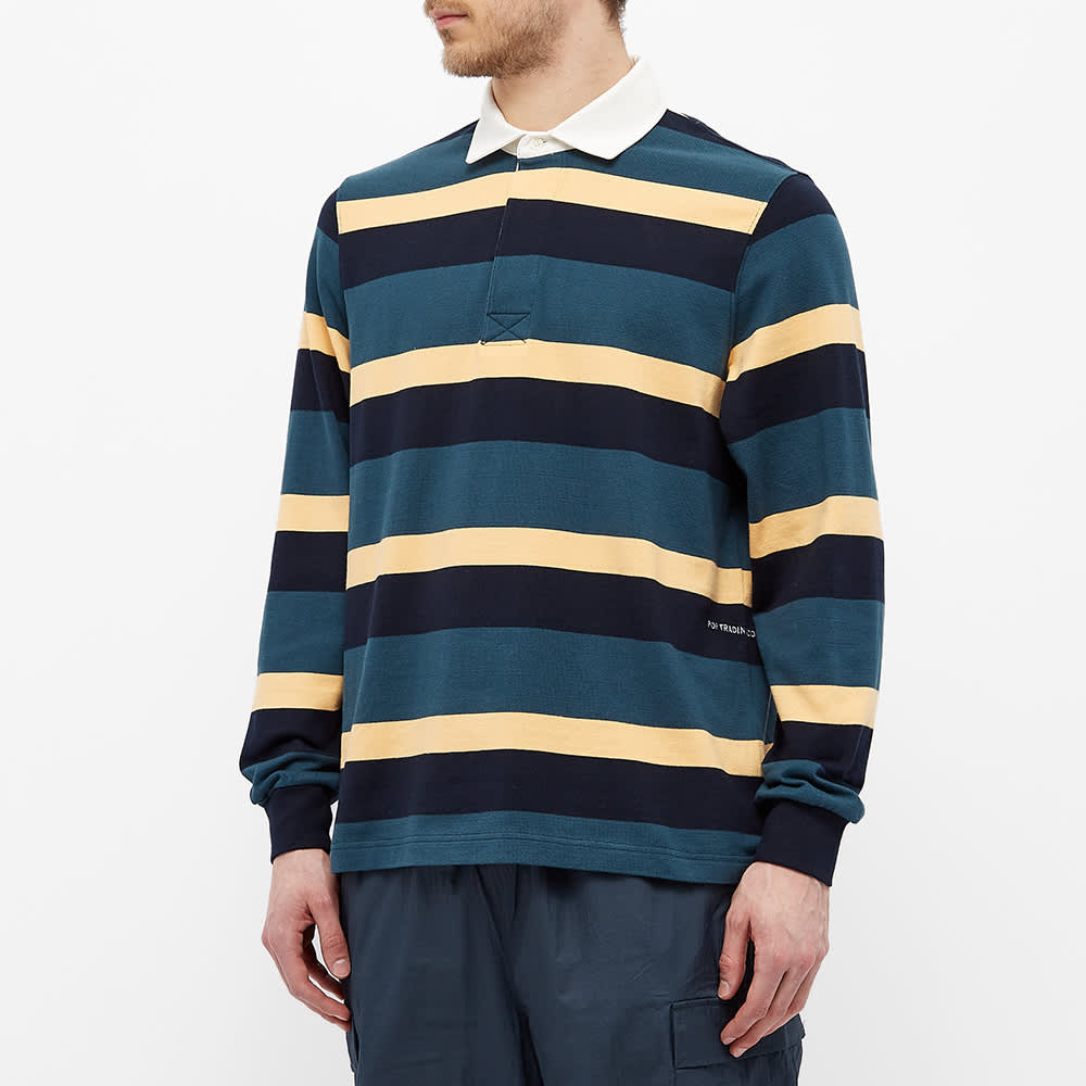 POP Trading Company Stripe Rugby Shirt - Multicolour