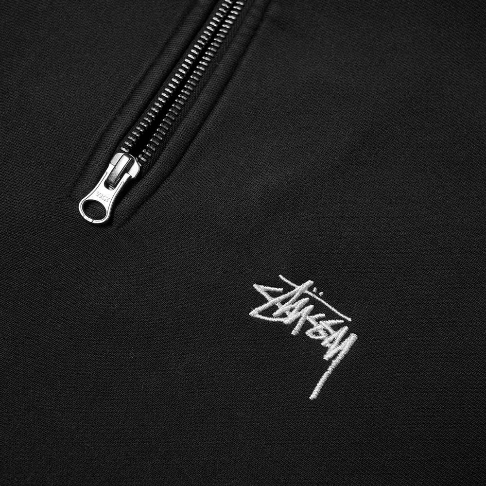 Stussy Stock Logo Mock Neck Sweat - Black