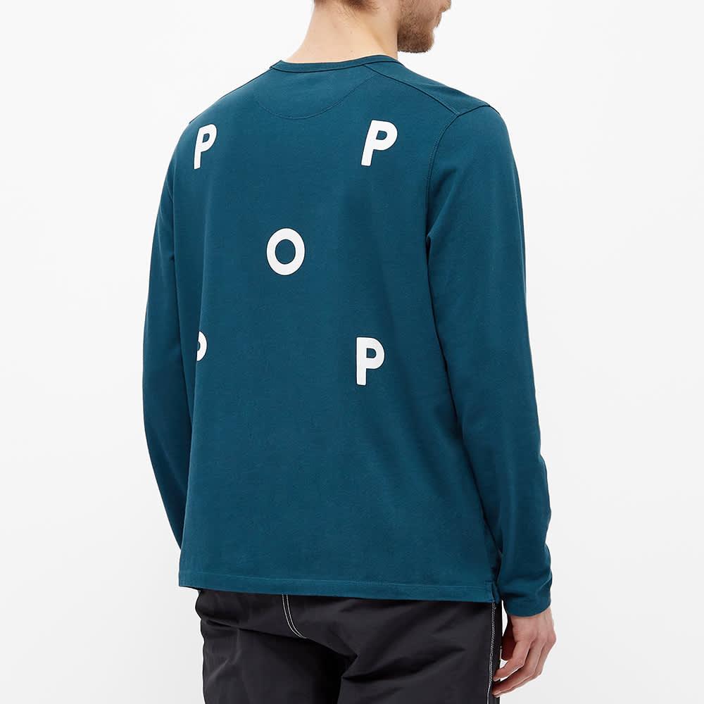 POP Trading Company Long Sleeve Logo Tee - Dark Teal