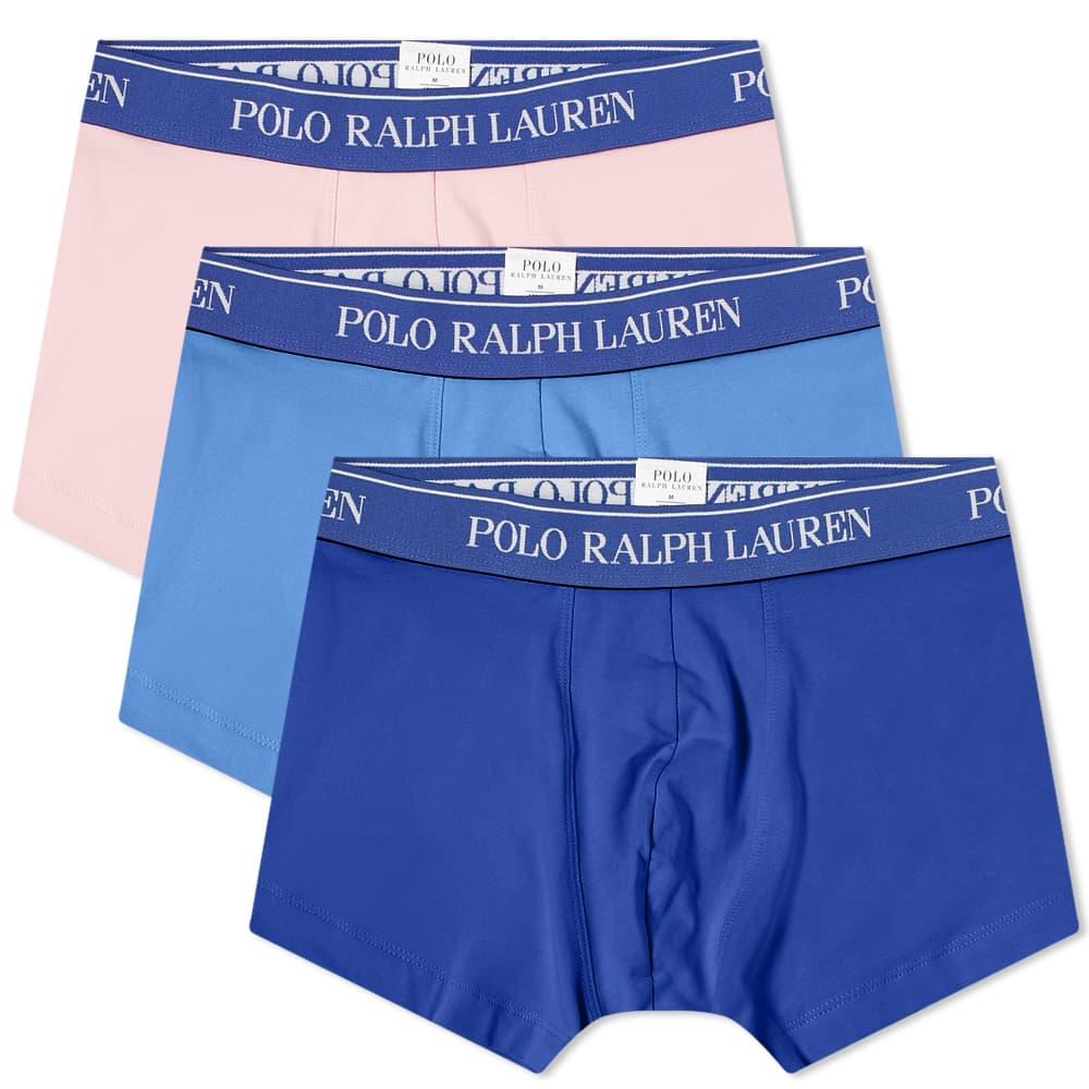 Polo Ralph Lauren Cotton Trunk - 3 Pack - Blue, Navy & Pink