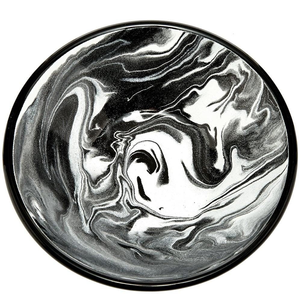 BORNN Enamelware Classic Marble 16cm Bowl - Black
