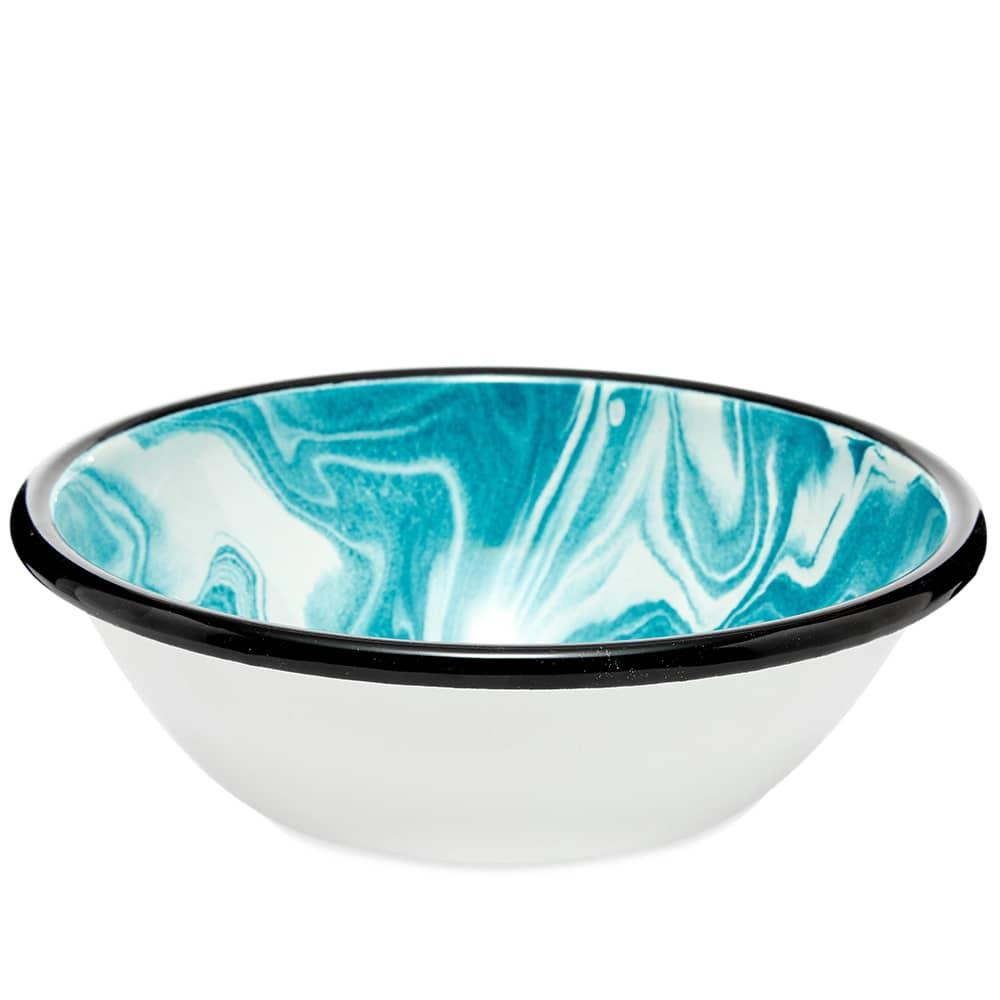 BORNN Enamelware Classic Marble Salad Bowl - Green