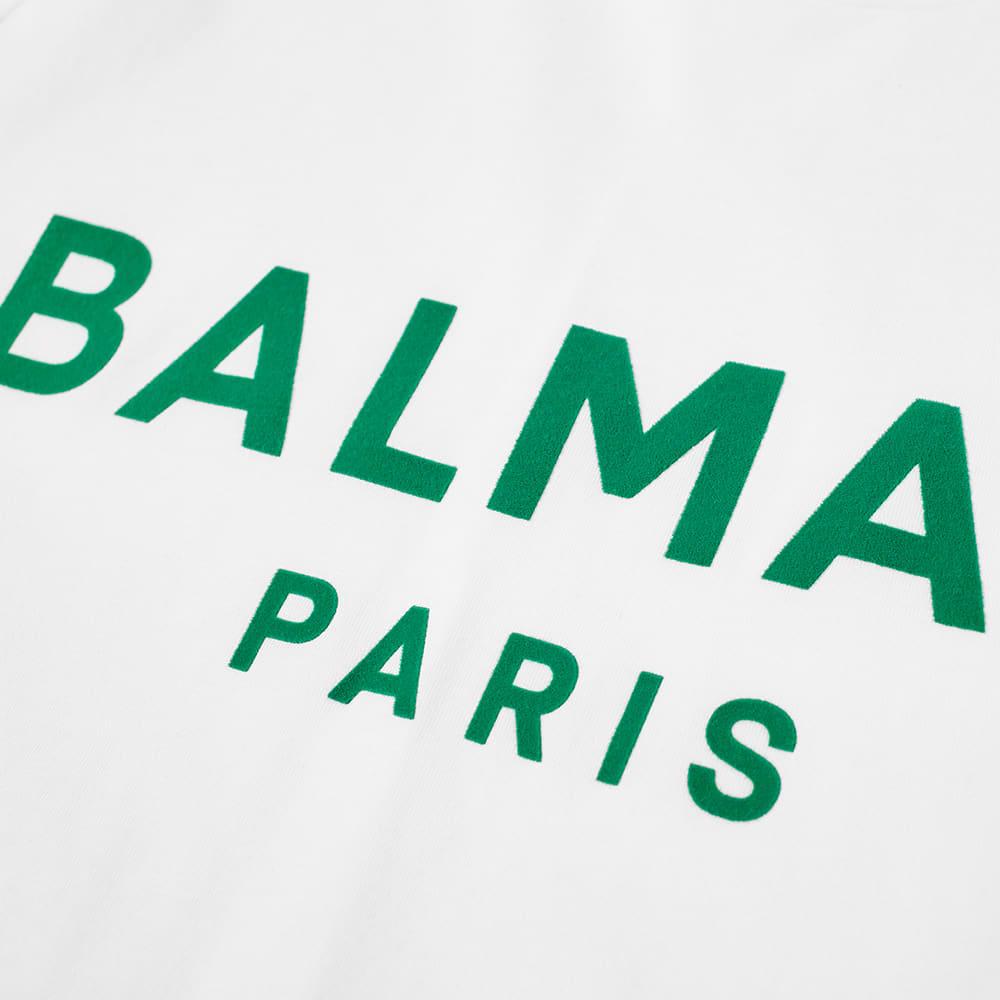 Balmain Flock Tee - White & Green