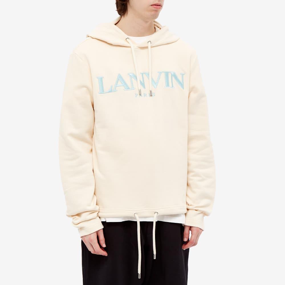 Lanvin Logo Popover Hoody - Ecru