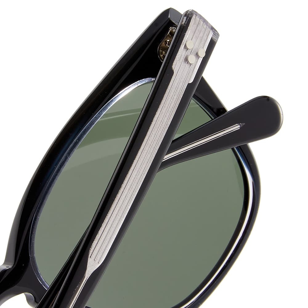Moscot Dudel Sunglasses - Black Crystal & G-15
