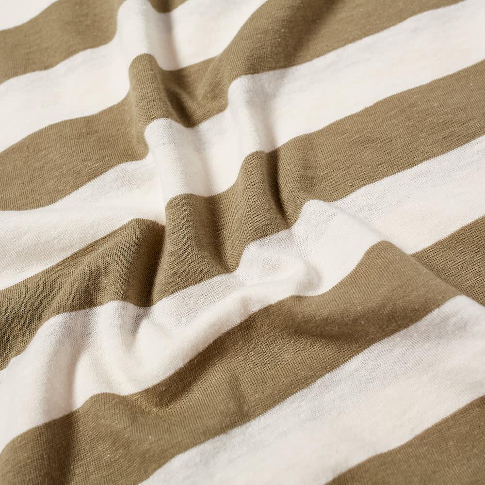 Armor-Lux Wide Stripe Tee - Fern & Natural