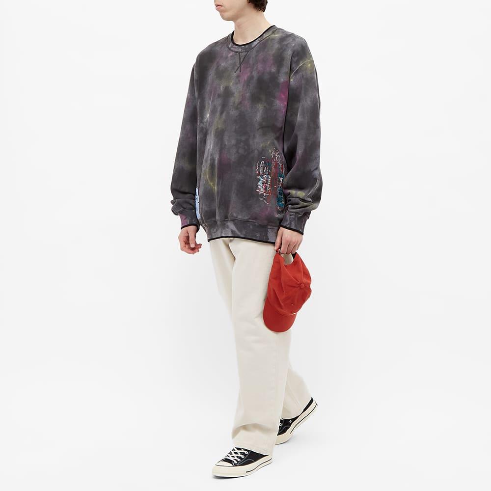 McQ Tie Dye Sweatshirt - Black & Grey Mix