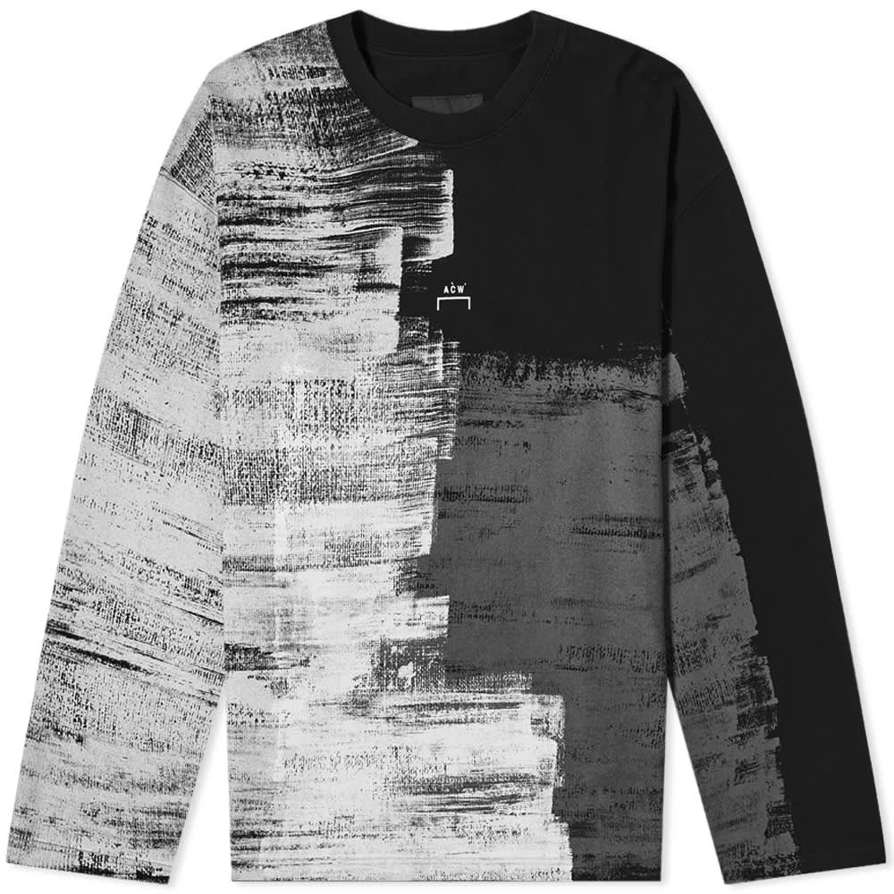 A-COLD-WALL* Long Sleeve Brush Strokes Tee - Black