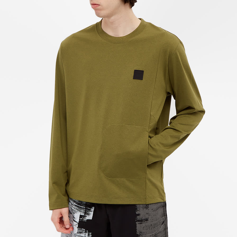 A-COLD-WALL* Long Sleeve Patch Logo Tee - Military Green