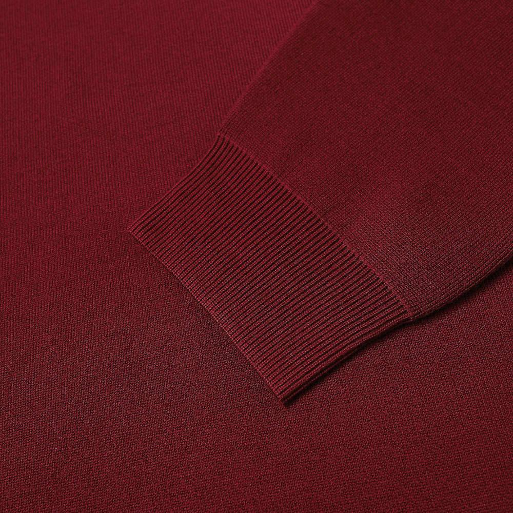 Acne Studios Krew Oversize Logo Crew Knit - Cherry Red