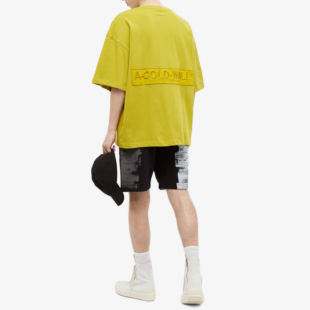 A-COLD-WALL* Embroidered Logo Tee - Chartreuse