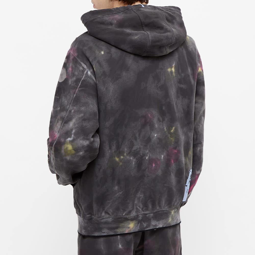 McQ Tie Dye Varsity Popover Hoody - Black & Grey Mix