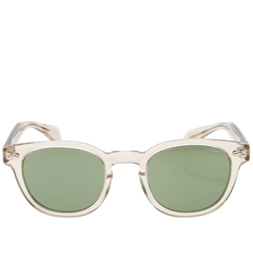 Oliver Peoples Sheldrake Sunglasses - Buff & Green C Vintage