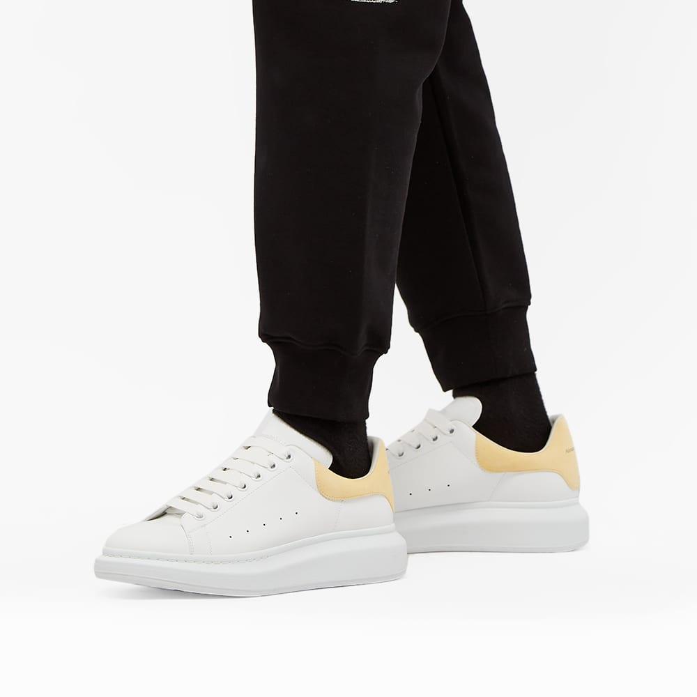 Alexander McQueen Heel Tab Wedge Sole Sneaker - White & Lemon