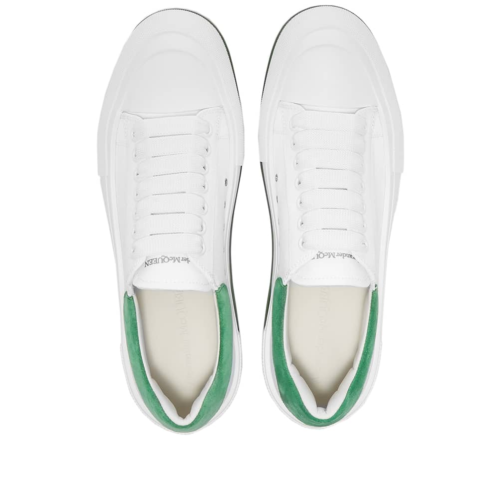 Alexander McQueen Chunky Foxing Plimsoll Sneaker - White & Green