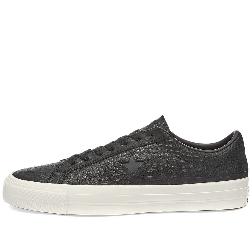 Converse One Star Pro Croc Emboss - Black, Egret & Gum