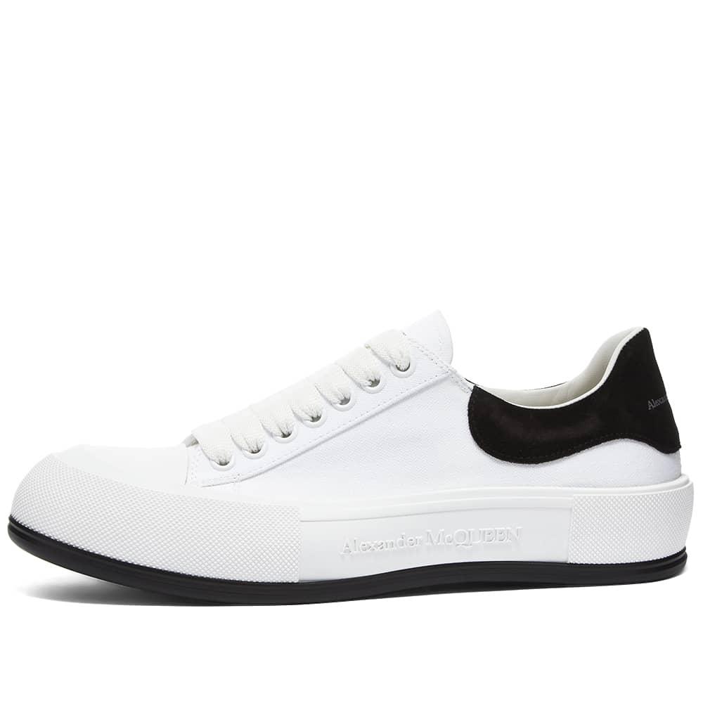 Alexander McQueen Chunky Foxing Plimsoll Sneaker - White & Black