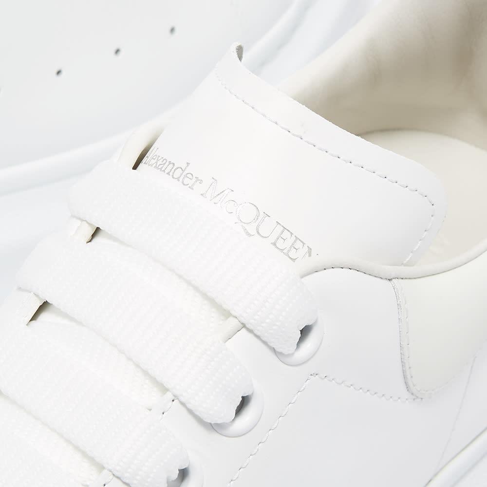 Alexander McQueen Glow In The Dark Heel Tab Wedge Sole Sneaker - White