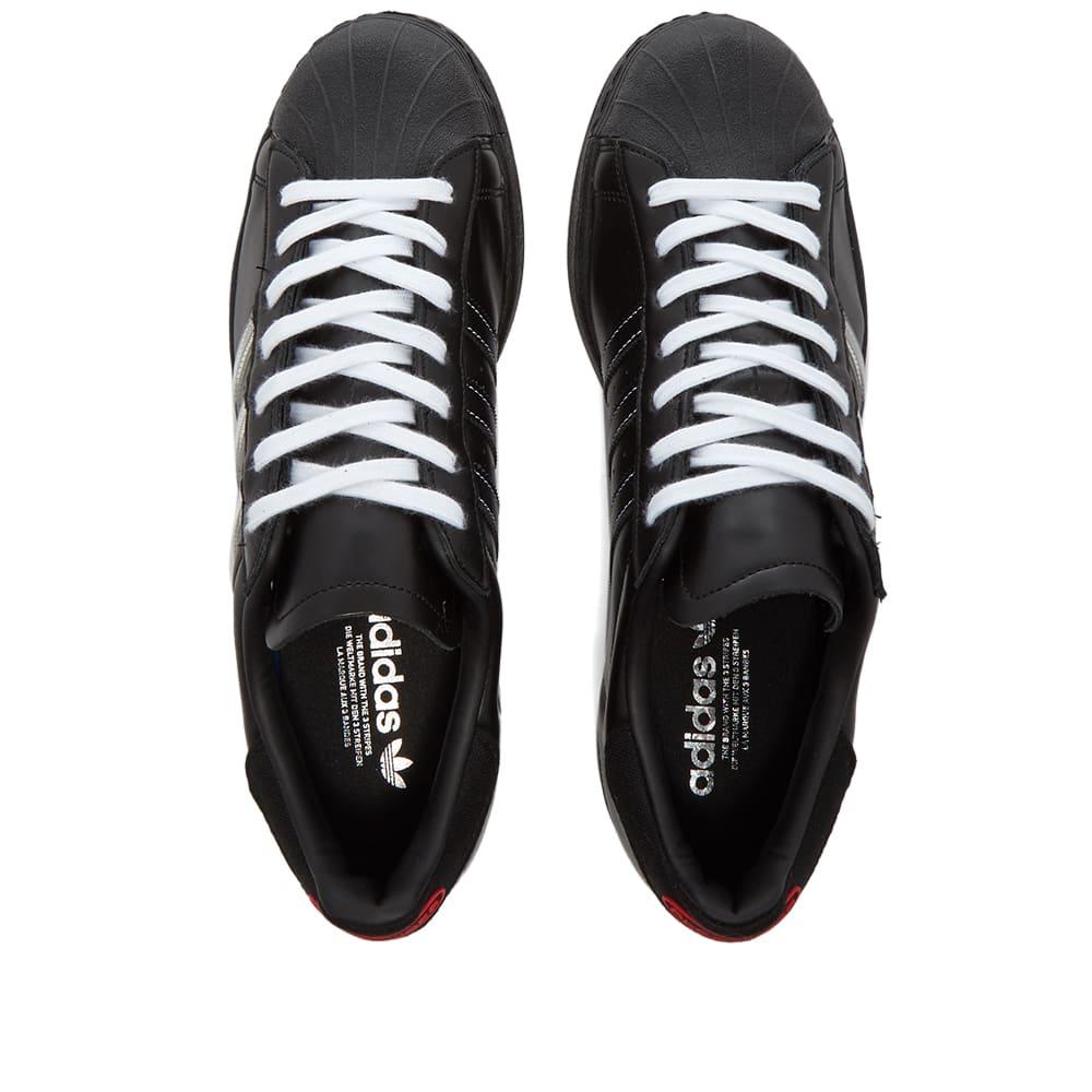 Adidas Consortium x PLEASURES Superstar - Black, White & Red