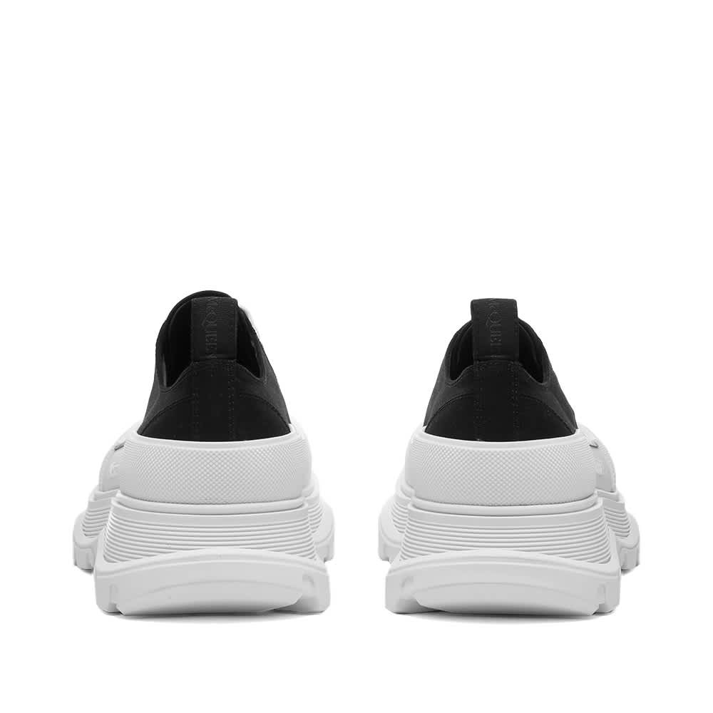 Alexander McQueen Tread Slick Canvas Low Top Sneaker - Black & White