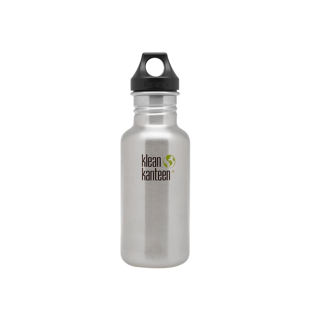 Klean Kanteen Classic Single Wall Loop Bottle - Brushed Stainless Steel 532ml
