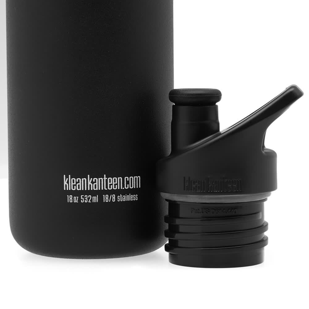 Klean Kanteen Classic Single Wall Sport 3.0 Bottle - Shale Black 532ml