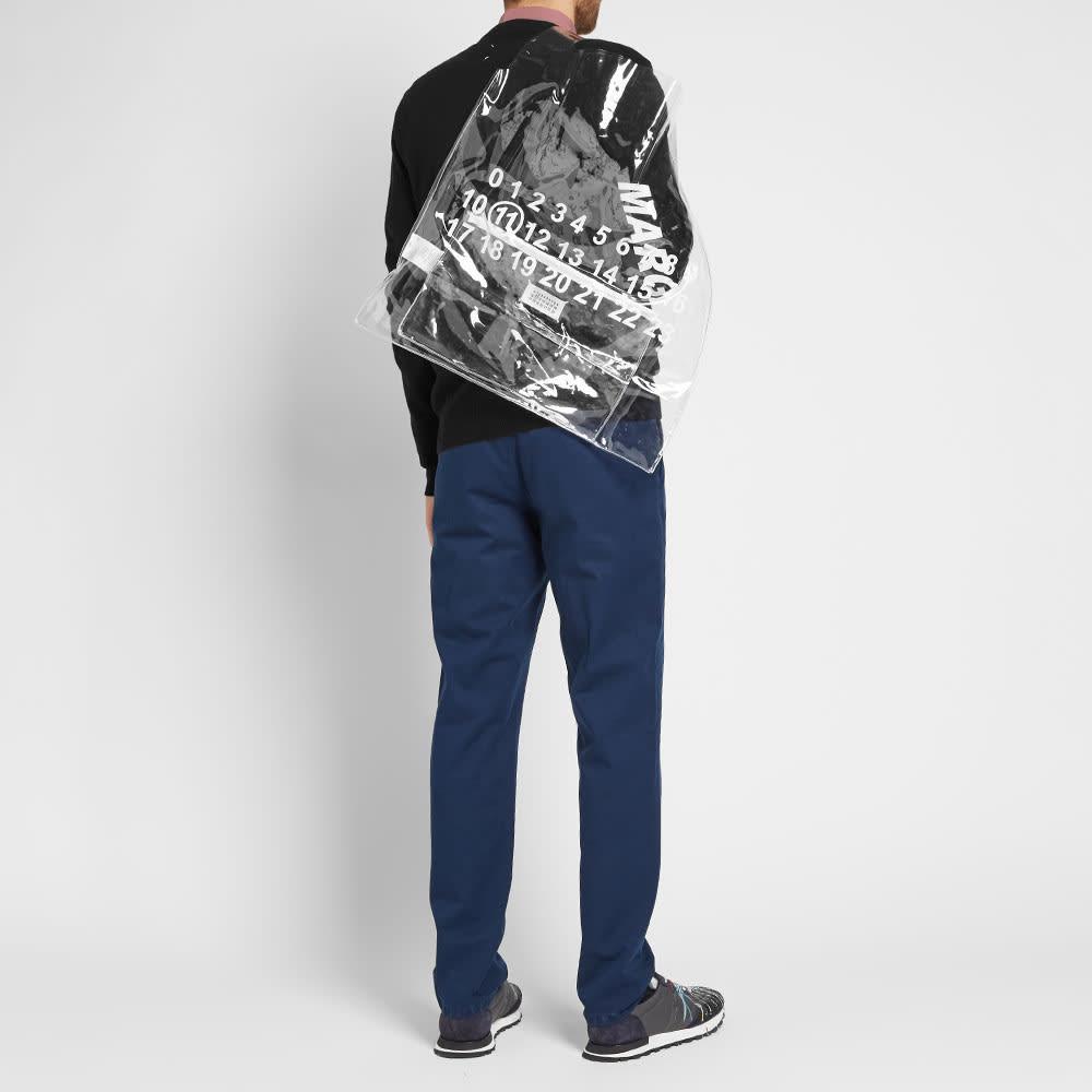 Maison Margiela 11 Logo XL Tote Bag - Transparent & White