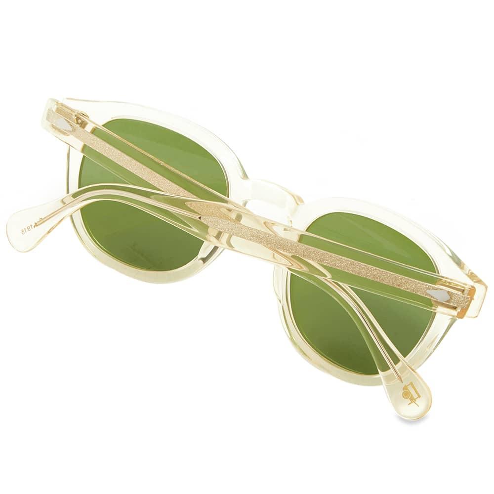 Moscot Lemtosh Sunglasses - Flesh & Caliber Green