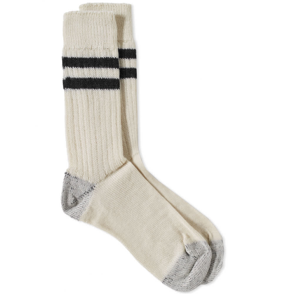 Junya Watanabe MAN x Merz b. Schwanen Sock - White & Black