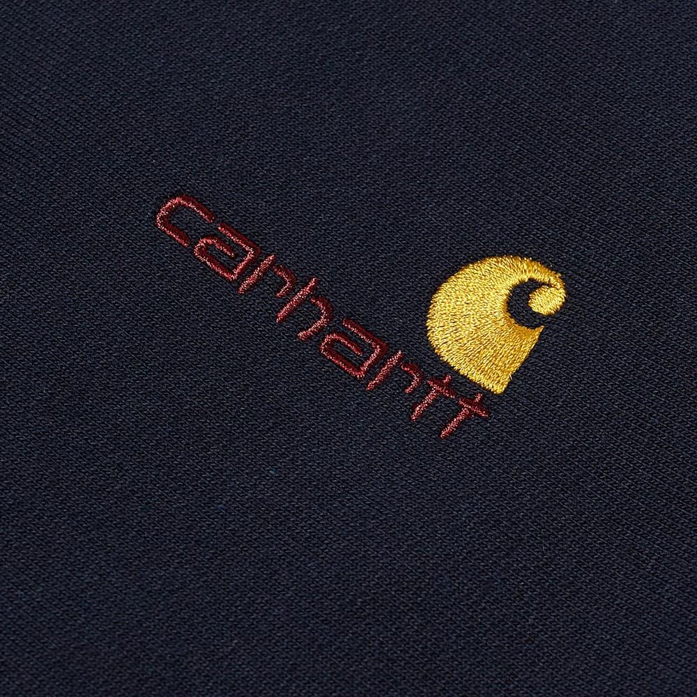 Carhartt WIP Hooded American Script Sweat - Astro
