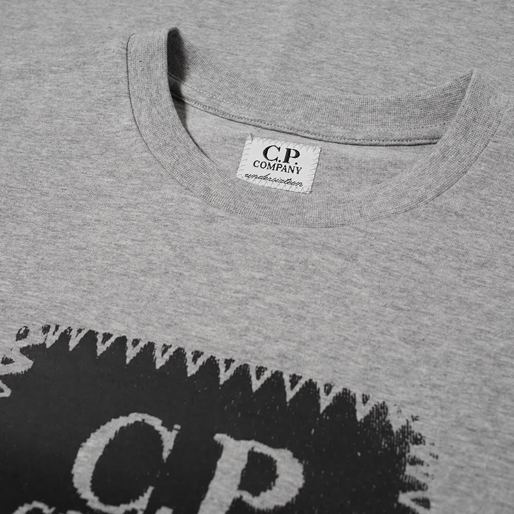 C.P. Company Undersixteen Block Logo Tee - Grey Melange