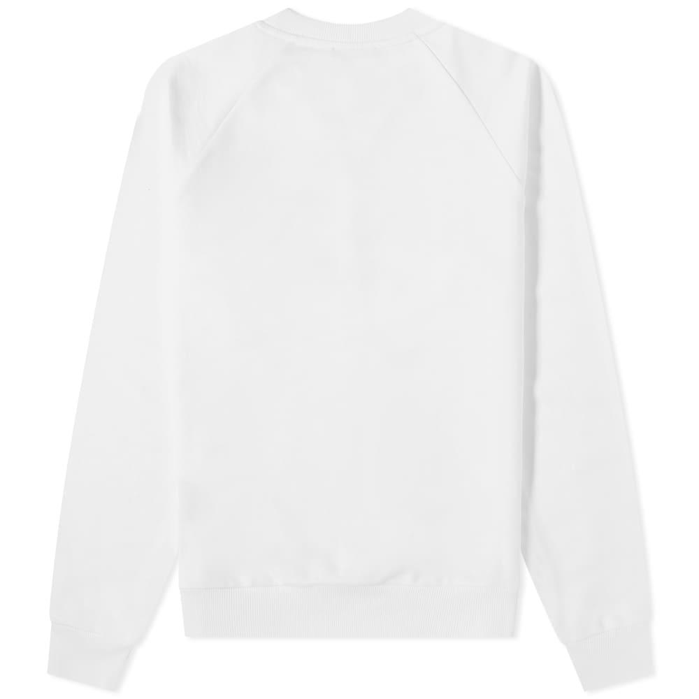 Balmain Paris Foil Logo Crew Sweat - White & Silver